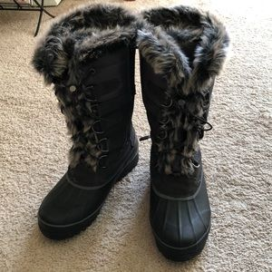 Lands End Tall Winter Snow Boots - Size 8